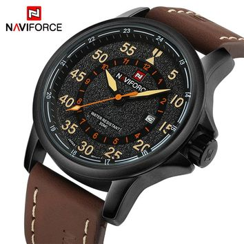 NAVIFORCE NF9076B Luxury Sports Men's Quartz Leather Military Watches