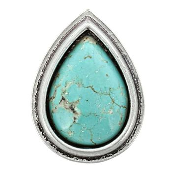 Carly Teardrop Turquoise Ring