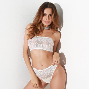 On Sale Cute Sexy Hot Deal Hot Sale Lace Patchwork Lingerie Set Exotic Lingerie [96254689295]