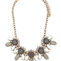 Rhinestone Petal Statement Necklace