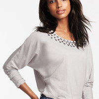 Embellished Dolman Crop Top