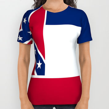 Flag of mississippi-flag of mississippi,south,Mississippian,usa, america,jackson,gulfport,Southaven All Over Print Shirt by oldking