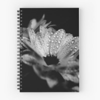 ' Daisies in black and white' Spiral Notebook by VanGalt
