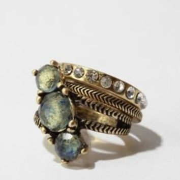 Mixed Stones Stackable Rings