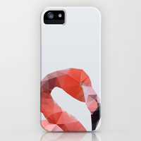 Geometrical - Flamingo iPhone Case by Three of the Possessed | Society6