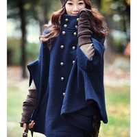 'The Addisen'  Blue Buttoned Trenchcoat
