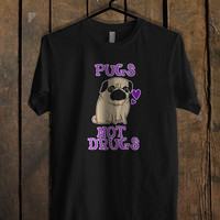 Pugs Not Drugs Funny T Shirt Mens T Shirt and Womens T Shirt **