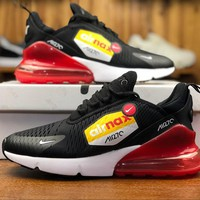 Nike Air Max 270 BIG LOGO Black Red Sport Running Shoes AH8050-015 - Best Online Sale