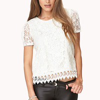 Regal Crocheted Top