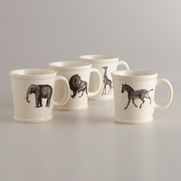 Animal Inspiration Mugs, Set of 4 - World Market