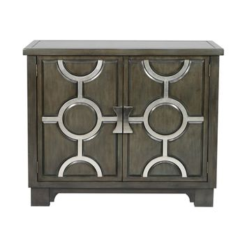 Caine Charcoal Accent Cabinet
