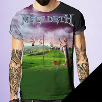 Megadeth Rock and Roll Tshirt by BornRocker Brand