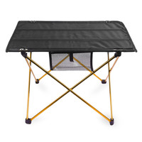 Portable Outdoor Aluminium Alloy Folding Table Ultralight Foldable Table for Camping Hiking Picnic Foldable Table with Bag