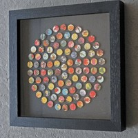 Circle Of Flower Dots Framed Picture