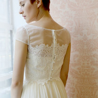 Clothilde--2 Piece, Lace and Silk Wedding Dress