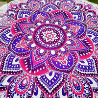 Round Beach Towel - Round Mandala - Outdoor Decor - Beach Decor - Beach Life - Boho Beach - Hippie - Picnic blanket - Rug - Tablecloth 3072
