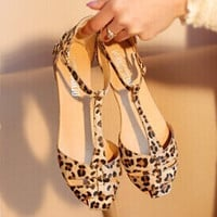 Womens Leopard Sandals Summer Shoes Gift 02