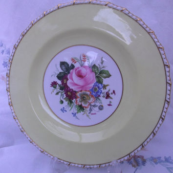Royal Crown Derby Plate signed F Garnett - Vintage Collector's Plate