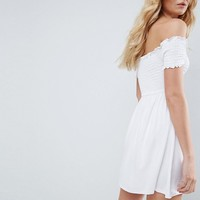 ASOS Off Shoulder Sundress with Shirring at asos.com