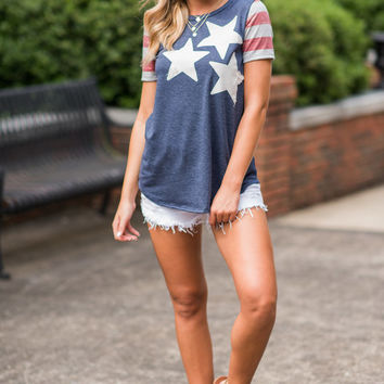 Star Power Top, Navy