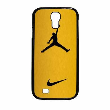 Nike Air Jordan Golden Gold Samsung Galaxy S4 Case