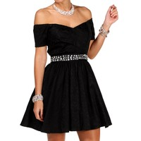 Christie - Charcoal Prom Dress