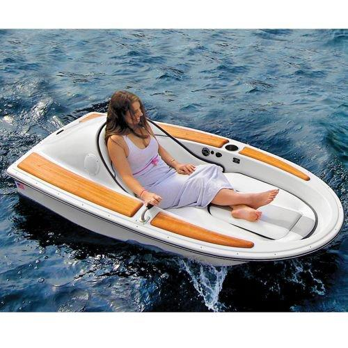 The one person electric watercraft from hammacher schlemmer for 3 person fishing boat