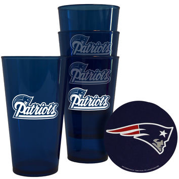 New England Patriots Plastic Pint Glass Set