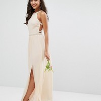 TFNC WEDDING Embellished Maxi Dress with Embellished Strappy Back at asos.com