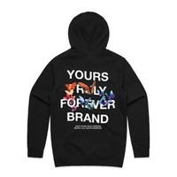 Yours Truly Forever Brand Butterfly Hoodie - Black
