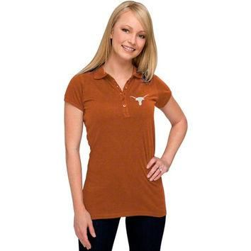 Antigua Texas Longhorns Women's Burnt Orange Spark Fashion Polo Shirt