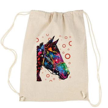Neon Horse Drawstring Backpack