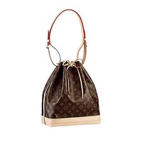 LV Authentic Louis Vuitton Monogram Canvas Noé Shoulder Bag Strap Handbag Article: M42224 Made in France