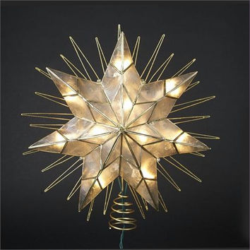Tree Topper - 7-point Gold Star