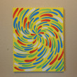 Original Painting Yellow Flower Aboriginal Inspired by Acires