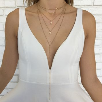 Lana Layered Necklace in Gold