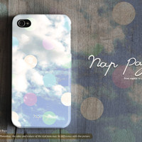 Apple iphone case for iphone iphone 5 iphone 4 iphone 4s iPhone 3Gs : Abstract soft cloud with colorful bokeh