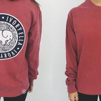 2016 Fashion elephants long sleeved T shirt
