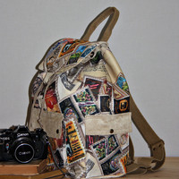 Stamps Prints Backpack/Large Backpack/Travel,School,Daily Backpack/Unisex  Rucksack