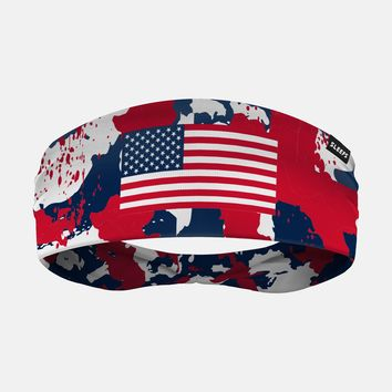 Red Blue White USA Flag Corrosive Headband