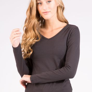 Long Sleeves V-Neck Top