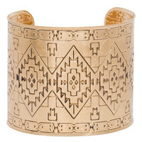 Meadow Aztec Cuff - Gold