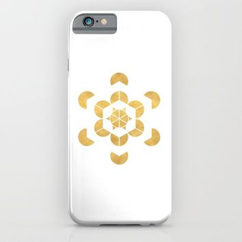 HEXAHEDRON CUBE sacred geometry iPhone & iPod Case by deificus Art