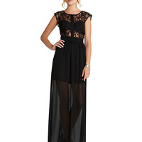 Bcbgeneration Lace Grosgrain Maxi Dress