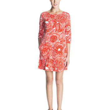 KIRIMA 2 MARIMEKKO DRESS RED/WHITE