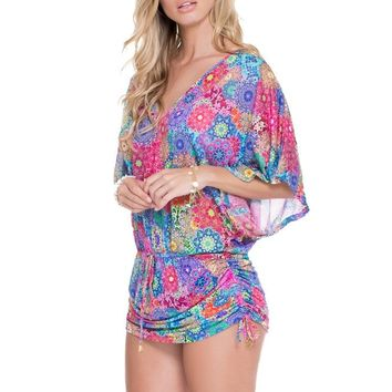 Luli Fama Beach Cover Up - Sunburst