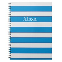 Blue and white lines notebook