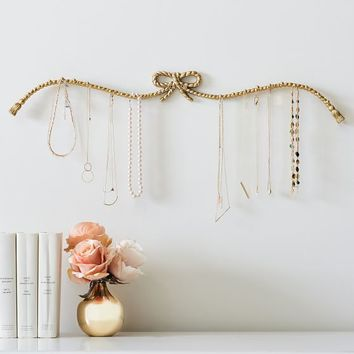 Braided Bow Wall-Mounted Jewelry Holder