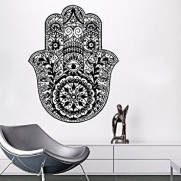 Wall Decals Yoga Mandala Fatima Hand Hamsa Namaste Indian Buddha Decal Vinyl Sticker Home Decor Bedroom Interior Design Art Mural MS549