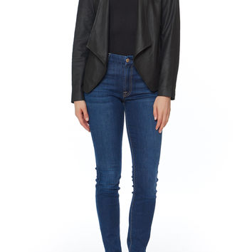 Wyden Harper Draped Leather Jacket